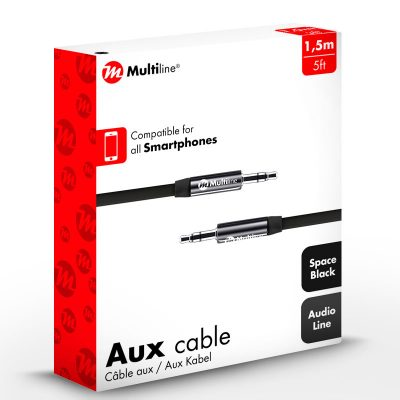 Multiline AUX Cable Black